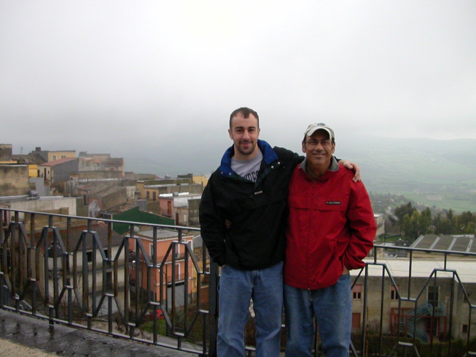 Taken from the area of the Palazzo of the Verga family. Picture is of Paul, III and I.