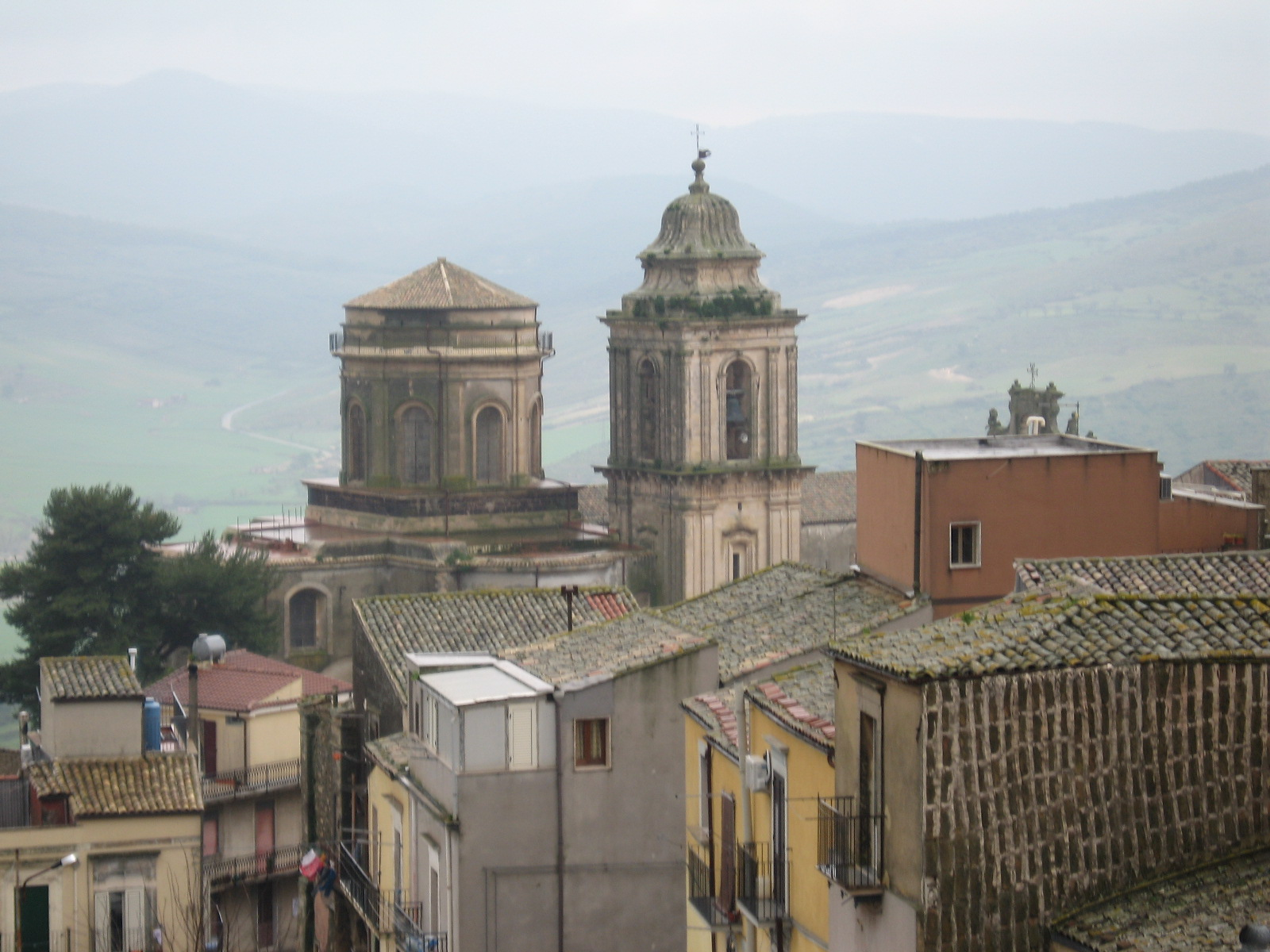 Taken from the area of the Palazzo of the Verga family. (The two tall structures is the IL Campanone Chiesa San Giovanni.)