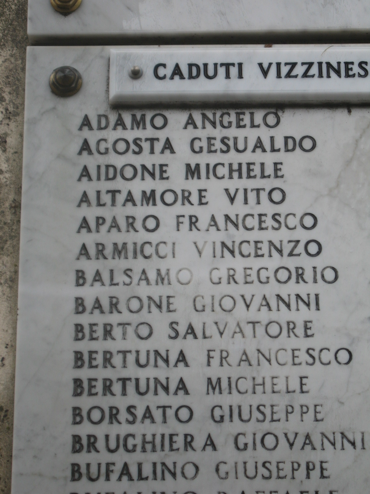 Vizzini, WWII War Memorial
